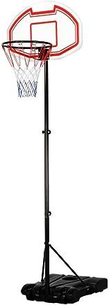Yaheetech 1.9-2.5M Adjustable Portable Basketball Stand Backboard Hoop Net w/Wheels Kids Fun(Birthday Gift)
