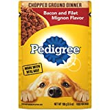 PEDIGREE Adult Wet Dog Food Chopped Ground Dinner Bacon and Filet Mignon Flavor, (16) 3.5 oz....