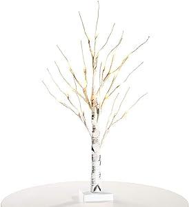 Nulala - Árbol de abedul, luz blanca cálida, decoración para el hogar, fiestas, bodas, interiores y exteriores