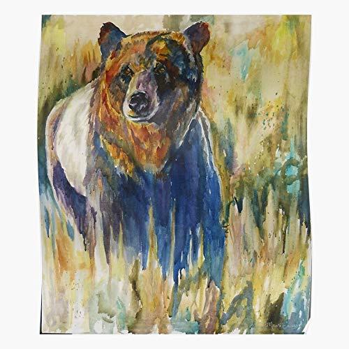jcrew Bears Maure Wildlife Bear Watercolor Portrait Bausch das Beste und neueste Plakat für Wandkunst Wohnkultur Zimmer