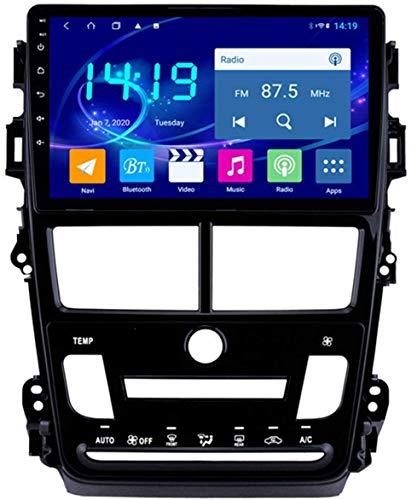Navegación estéreo de Coche Android 9.1 para Toyota Vios 2018,9 Pulgadas Sat Nav Pantalla táctil Reproductor Multimedia Bluetooth con Enlace Espejo,8Core WiFi+4G 4+32...