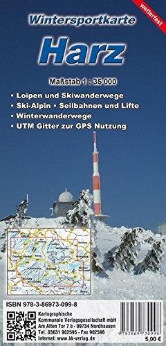 Wintersportkarte Harz: reiß- und wetterfest