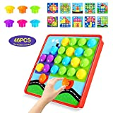 Geekper Mosaik Steckspiel für Kinder ab 2 Jahre mit 46