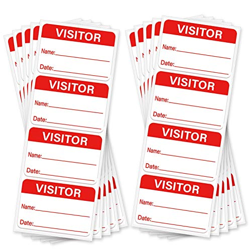 Visitor Stickers,Visitor Name Stickers Labels,3 x 2 Inches,100 Pcs Per Pack