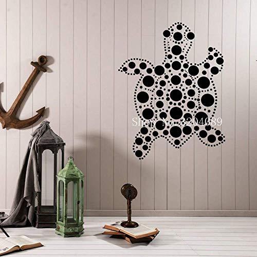 Coole Vinyl Aufkleber Tribal Animal Sea Turtle Wandaufkleber Home Decoration für Wohnzimmer Ocean Animal Decor Art Unique Gif