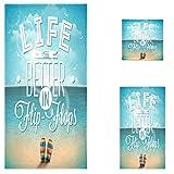Naanle Summer Beach Life is Better in Flip-Flops Pattern Soft...