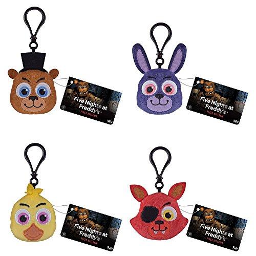 Funko Plush Keychain - Five Nights at Freddy's - SET OF 4 (Foxy, Chica, Bonnie & Freddy)