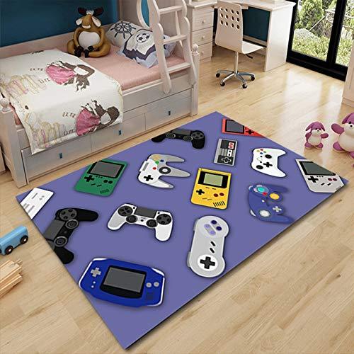 SSHHJ La Tendencia de la Consola de Juegos Fresca sobre el Engrosamiento Antideslizante se Puede Utilizar en la Sala de Estar, Dormitorio, Porche, Piso Completo, Alfombra para pies