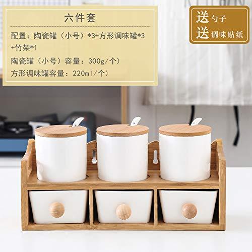 SGAN Scatola di conservazione del condimento Scatola di conservazione del condimento della Cucina Scatola di condimento Set Combinazione Domestica Caricamento Shaker di Sale Ciotola di Zucchero,A13