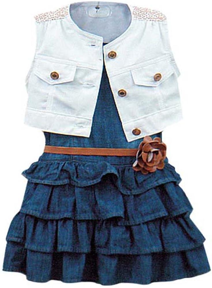Weixinbuy Max 52% Max 66% OFF OFF Toddler Kid Girl 1 Vest Tutu Coat + Party Dresses