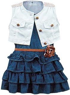 Ochine 女の子 セーラー風ワンピース ドレス ガールズ 女児 かわいいワンピ 海軍風 春夏 子供洋服 誕生日 入学式 子供の日 三五七 遊園地 演奏会に