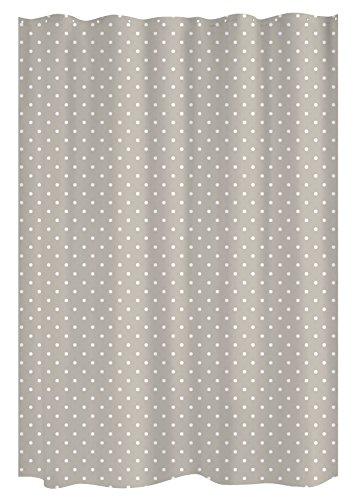 Gelco Design Dots Duschvorhang, 180x 200, Polyester, Stone, 180x 200x 0,32cm