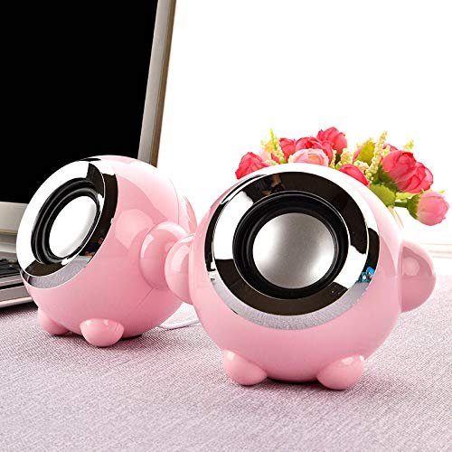 Altavoz 2 0 Canales Mini portátil USB de sobremesa portátil de Escritorio Audio-Rosa Altavoces de Ordenador para Ordenador
