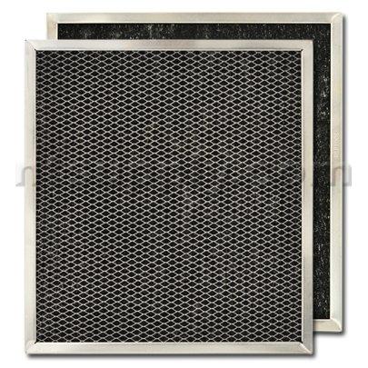 """American Metal Carbon Range Hood Filter 10 7/16"""" x 11 7/16"""" x 3/8"""", Pack of 2"""