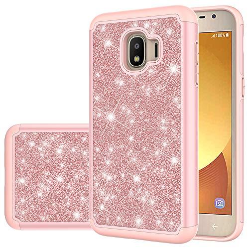 Hauw Funda Samsung Galaxy J2 Core,Doble Protección Caja del Teléfono a Prueba de Golpes para Samsung Galaxy J2 Core,Rosado