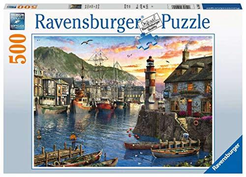 Ravensburger Puzzle 15045 Ravensburger Kinderpuzzle 15045-Morgens am Hafen-500 Teile