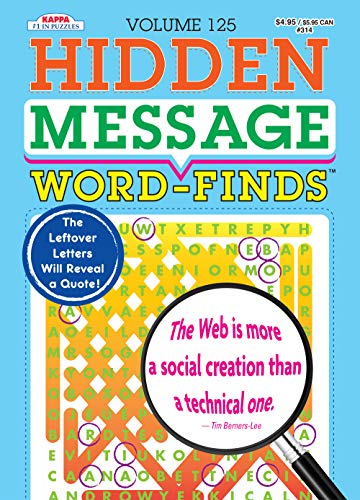 Compare Textbook Prices for Hidden Message Word-Finds Puzzle Book-Word Search Volume 125  ISBN 9781559937399 by Kappa Books Publishers