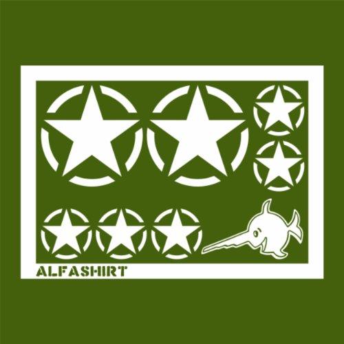 Autocollant/sticker – étoile de l'armée américaine, étoile militaire, kit de tuning (étoile 10 cm) (étoile 5 cm) (poisson 10 cm de large)