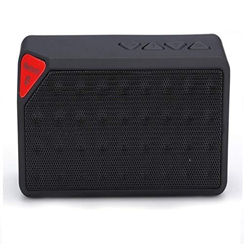 qiyan Altavoz Bluetooth para Exteriores Caja de Sonido de música inalámbrica portátil Subwoofer Soporte para Manos Libres TF Aux FM Radio Nuevo Lordzmix-in Altavoces portátiles Negros