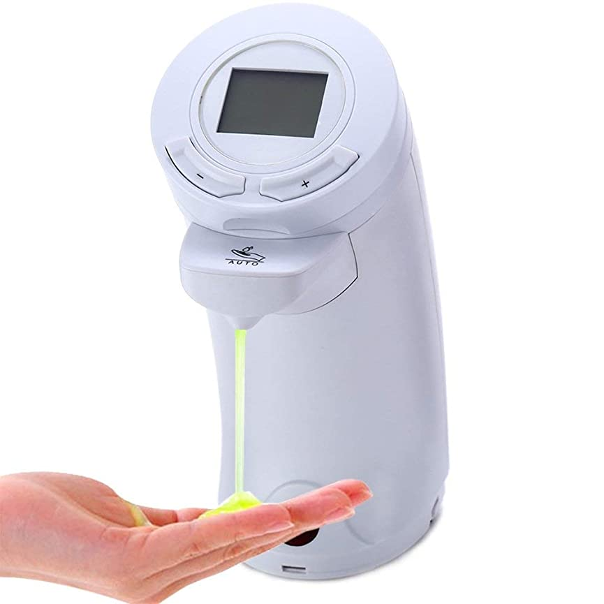 インスタンスカール境界200ミリリットル自動タッチレス石鹸ディスペンサーirセンサー手洗い液体ボトル付き液晶ディスプレイキッチン浴室Zeepdispenser