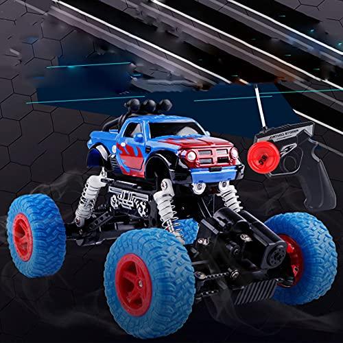 MGJX Coche de control remoto de cuatro vías para niños Deriva de alta velocidad Tracción en las cuatro ruedas Coche de escalada todoterreno Juguete eléctrico para niño Juego de modelos de simulación d