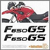 2pcs Aufkleber kompatibel für Motorrad F650 GS Motorrad F 650 f650gs (Black)
