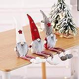 MU2827924 Langer Hut Plüsch Weihnachtszwerg Puppe Dekoration Weihnachtsmann-Figur Puppe Plüsch Elf Spielzeug 3 Stück,3pcs - 3