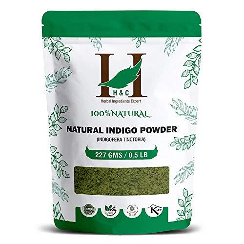 100% Natural Indigo Powder for Hair (227g   (1 2 lb)   8 ounces) Indigofera tinctoria to color your hair brown to black
