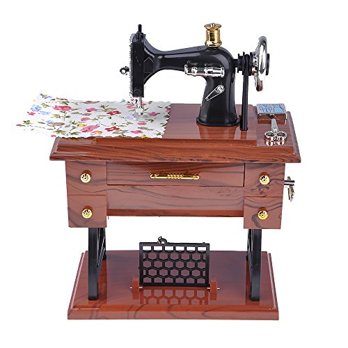 Weka Mini Handmade Classic Vintage Treadle Sartorius Sewing Machine Music Box Desktop Home Decor Mother Gifts