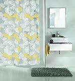 Kleine Wolke textilgesellschaft Duschvorhang, Synthetikfasern, gelb, 200x 180cm