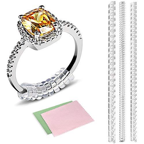 Hicen anello di regolazione per sciolti, anelli Snuggies per largo con argento panno, set di calibro 12,3per qualsiasi anelli (2MM/3mm/4mm)
