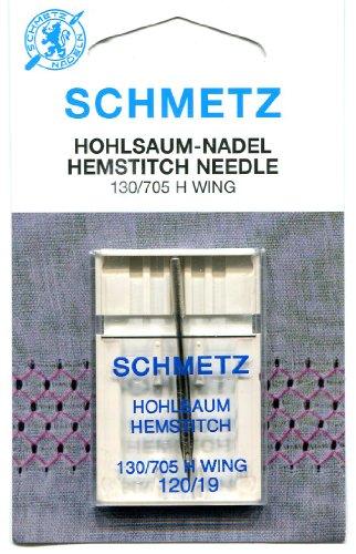 Schmetz Aguja para máquina de coser de Hemstitch (ala) - Tamaño: 120/19 (más gruesa)