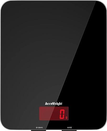 ACCUWEIGHT 201 Balance de Cuisine Électronique Balance Multifonctionnelle Numérique avec Écran LCD Rétro Éclairé Bala...