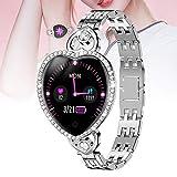 Smartwatch para Android iOS Mujer,Reloj Inteligente women,Fitness Smart watch resistencia al agua IP67 Deporte Oxigeno en Sangre Ritmo cardiaco Monitoreo del Sueño(Size:un tamaño,Color:astilla)