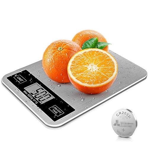DOXHAUS Küchenwaage Digital Electronische Waage, Küchenwaage Mit LCD Display 5kg Maximalgewicht wunderbare Präzision auf bis zu 1g elektronische Waage inkl Batterien