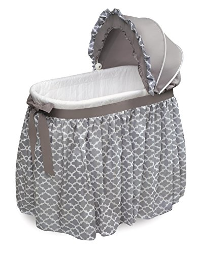 Save %25 Now! Wishes Oval Rocking Baby Bassinet with Bedding, Storage, and Pad