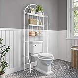 Estanteria Inodoro,Estanteria Baño 3 Niveles Estante de Almacenamiento Cuarto de baño Estante para tu baño o lavadero, 176.5 × 62 × 33.5 cm, Blanco