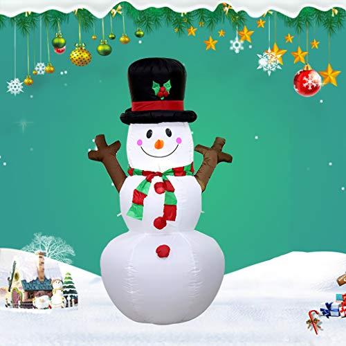 1.6Meters / 5 Feet Huge Inflatablechristmas Baumast Schneemann, Glühend Weihnachtsaußendekoration Mit LED-Licht, Weihnachten Inflatables Spielzeug in Yard Garten