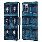 Head Case Designs Ufficiale HBO Game of Thrones Sei Teste Volti 2 Cover in Pelle a Portafoglio Compatibile con Apple iPhone 12 / iPhone 12 PRO