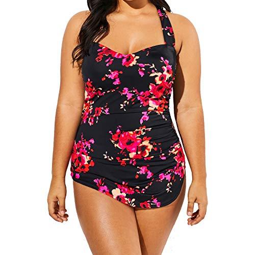 Meet.Curve H-Back Plus Size Swimsuits for Women Multicolor Optional One Piece Bathing Suit