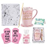 Not a Day Over Fabulous Coffee Mug Birthday Gifts for Women, Birthday Gift Ideas for Best Friends female, BBF, Her, Sister, Wife, Mom, Aunt Marble Coffee Mug with Box Packing Pink 14OZ with Socks