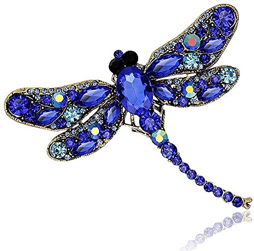 FOPUYTQABG Brooch Brooch Large Crystal Dragonfly Exquisite Fashion Brooch Female Alloy Insect Exq