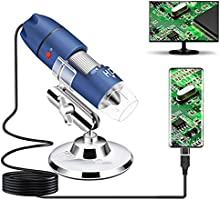 Jiusion 2K HD 2560x1440P USB Digital Microscope for Android Mobile Phone and Tablet Windows Mac Linux,40X to 1000X...