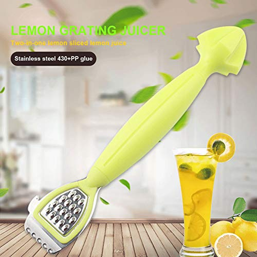 2-in-1 Multifunktions-Zitronenreibe, Bar-Quetschwerkzeug, Edelstahl, ergonomisch, leicht zu reinigen 2 in 1 grater bar Wie abgebildet