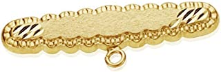 18K Gold Pin 30mm Carved. Baby Detail [Ab8752]
