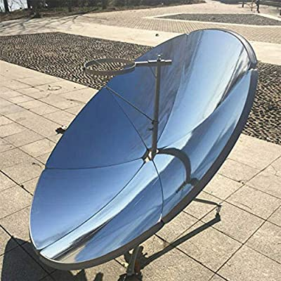 GDAE10 Portable Solar Cooker, 1800W 1.5m Diameter Camping Outdoor Solar Cooker for Solar Heating, Visual Education or DIY Solar Concentrator 59'' Diameter