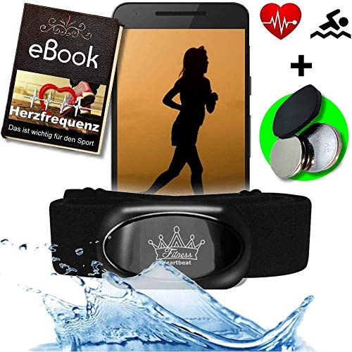 Fitness Prince© Heartbeat 2021 Swim Triathlon Bluetooth 4.0 & ANT+ Herzfrequenzmesser für RUNTASTIC Adidas Wahoo Nike+ Sensor für Garmin Polar Runtastic Wahoo Fitnessstudio Schwimmen
