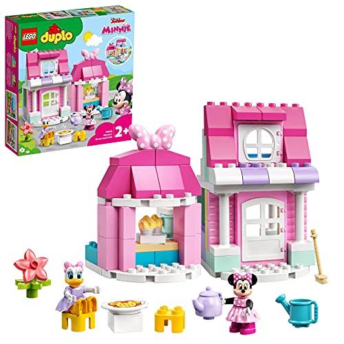 LEGO 10942 Duplo Disney La Maison et Le café de Minnie, Maison de poupée avec Daisy, Jouet Enfant 2 Ans et Plus