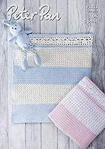 Peter Pan Baby Blanket Baby Cotton Crochet Pattern 1311 DK