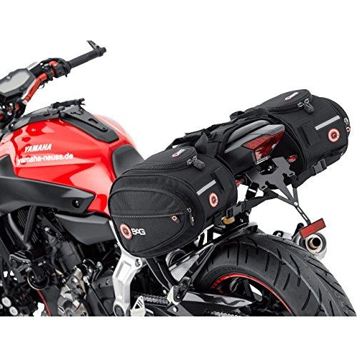 QBag Motorrad Satteltaschen für Motorrad Taschen Satteltaschen Motorrad Gepäck Satteltaschenpaar Motorradgepäck, 22 Liter Stauraum (2x11 l), Regenhaube, universell für Fast jedes Modell, schwarz